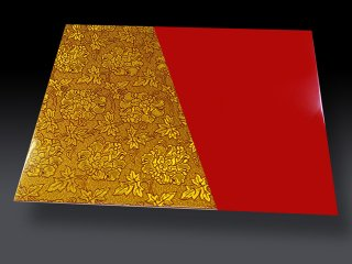 金襴ランチョンマット BOTAN RED(両面仕様)