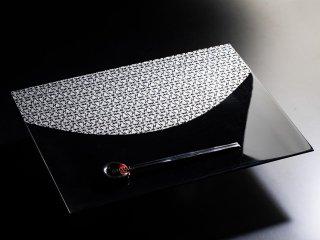 金襴ランチョンマット TACHIKI BLACK-Silver(片面仕様)