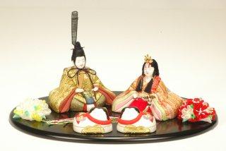 令春雛(丸盆飾り・犬筥付き)