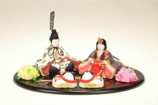 喜雲雛 桜(小判台飾り・犬筥付き)
