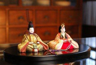 令春雛(丸盆飾り)
