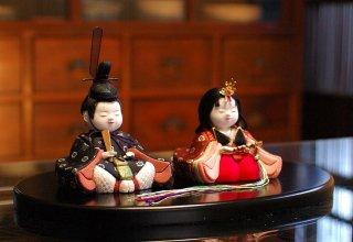 令華雛 桜(丸盆飾り)