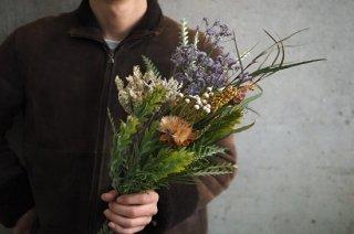 dried flower bouquet M