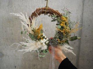 mimosa wreath Φ23cm