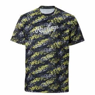 Rawlings(ローリングス) AST11S05 HACKS CAMO Tシャツ ベースボール 野球 カモ 明細