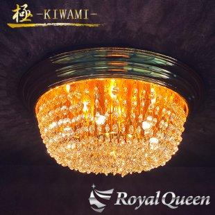 【送料無料】バージョンUP♪ Royal Queenオリジナル★ゴールドメッキ りんご型 シャンデリア 400 【極-KIWAMI- 】 天吊り 照明