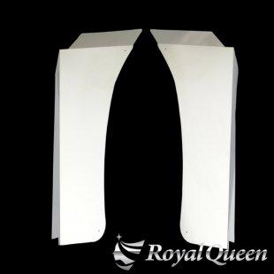 【送料無料】三菱ふそう スーパーグレート ステンレス ロングマッドガード 鏡面 #1000 +250mm