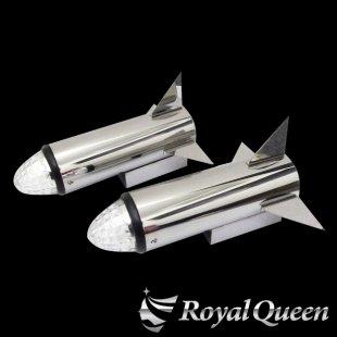 【送料無料】ロケットマーカー310mm RM240 鏡面 磨き#1000 左右2本セット マーカー2個付き