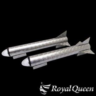 【送料無料】ロケットマーカー 670mm RM600 ウロコ柄 左右2本セット マーカー2個付き