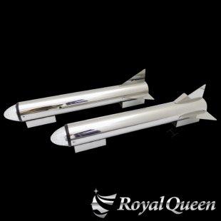 【送料無料】ロケットマーカー 670mm RM600 鏡面 磨き#1000 左右2本セット マーカー2個付き