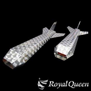 【送料無料】ロケットマーカー ナマズマーカー ウロコ柄 RM670 左右2本セット 全長670mm