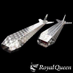 【送料無料】ロケットマーカー ナマズマーカー ウロコ柄 RM850 左右2本セット 全長850mm