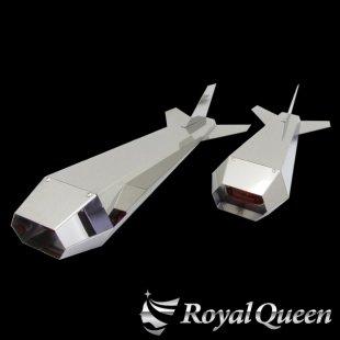 【送料無料】ロケットマーカー ナマズマーカー 鏡面 RM670 左右2本セット 全長670mm 磨き#1000