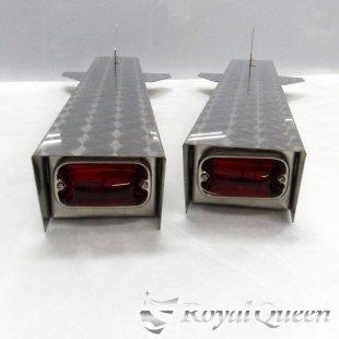 セール♪【送料無料】ロケットマーカー ウロコ柄 RM750C 左右2本セット 全長755mm