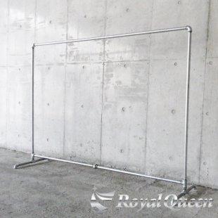 【大型商品】ガス管ハンガーラックキャスター付タイプA-2約W198cm×H142cm