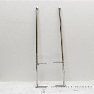 【送料無料】汎用 ステンレス 旗棒 コーナーポール ★ 25Φ パイプ 全長1040mm 25A ★フラッグポール