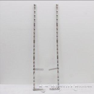 セール♪【送料無料】汎用 ステンレス 旗棒 コーナーポール ★ 25Φ 絞りパイプ 全長1180mm 25F ★フラッグポール