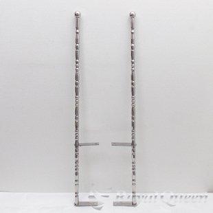【送料無料】汎用 ステンレス 旗棒 コーナーポール ★ 25Φ 絞りパイプ 全長1140mm 25I ★フラッグポール
