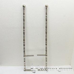 【送料無料】汎用 ステンレス 旗棒 コーナーポール ★ 32Φ 絞りパイプ 全長1245mm 32J ★フラッグポール