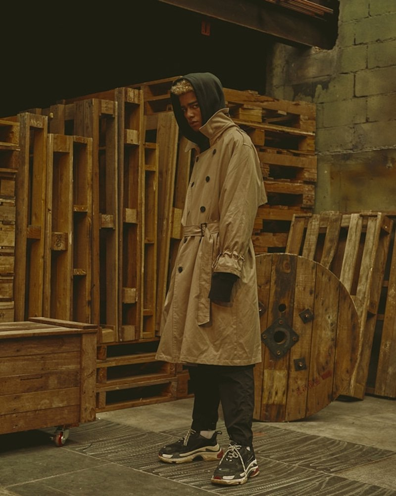 オーバーサイズ&ストリート『Re:one Online Store』「OVERR」18FW BEIGE TRENCH COAT