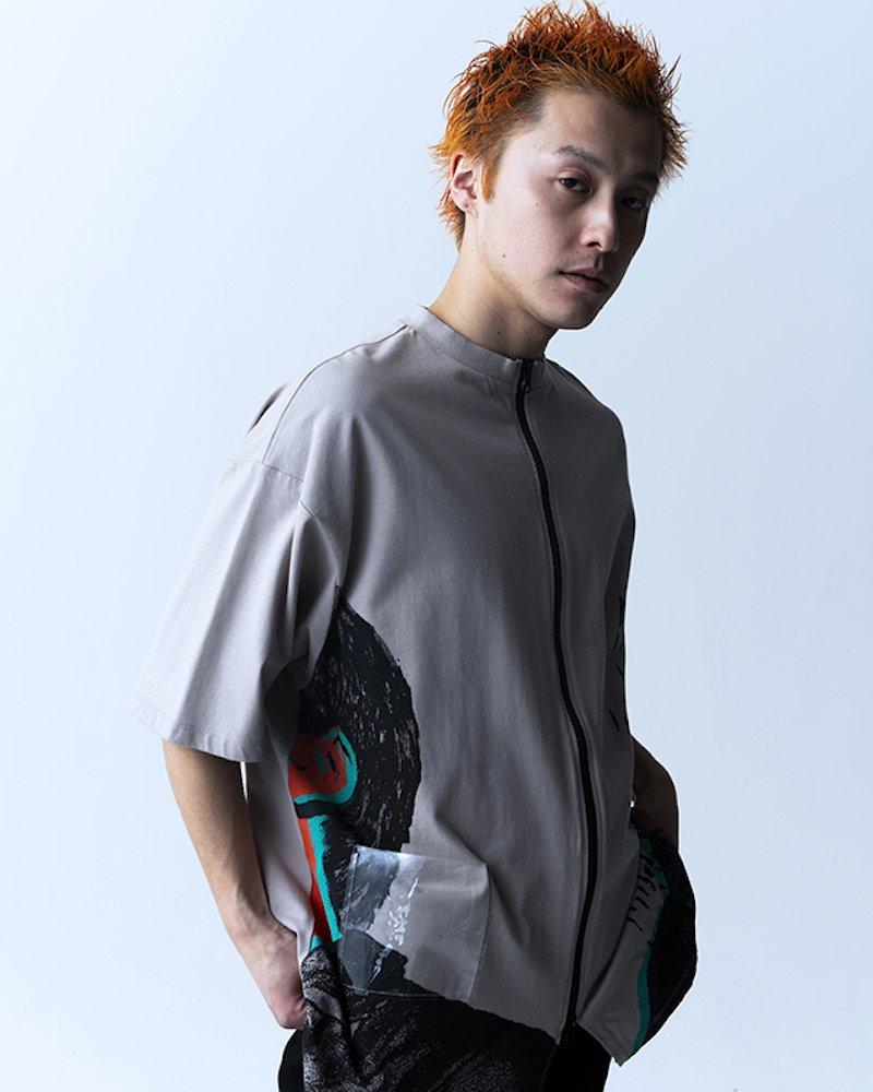 オーバーサイズ&ストリート『Re:one Online Store』「PARADOX」ZIP T-SHIRTS(GRAY)