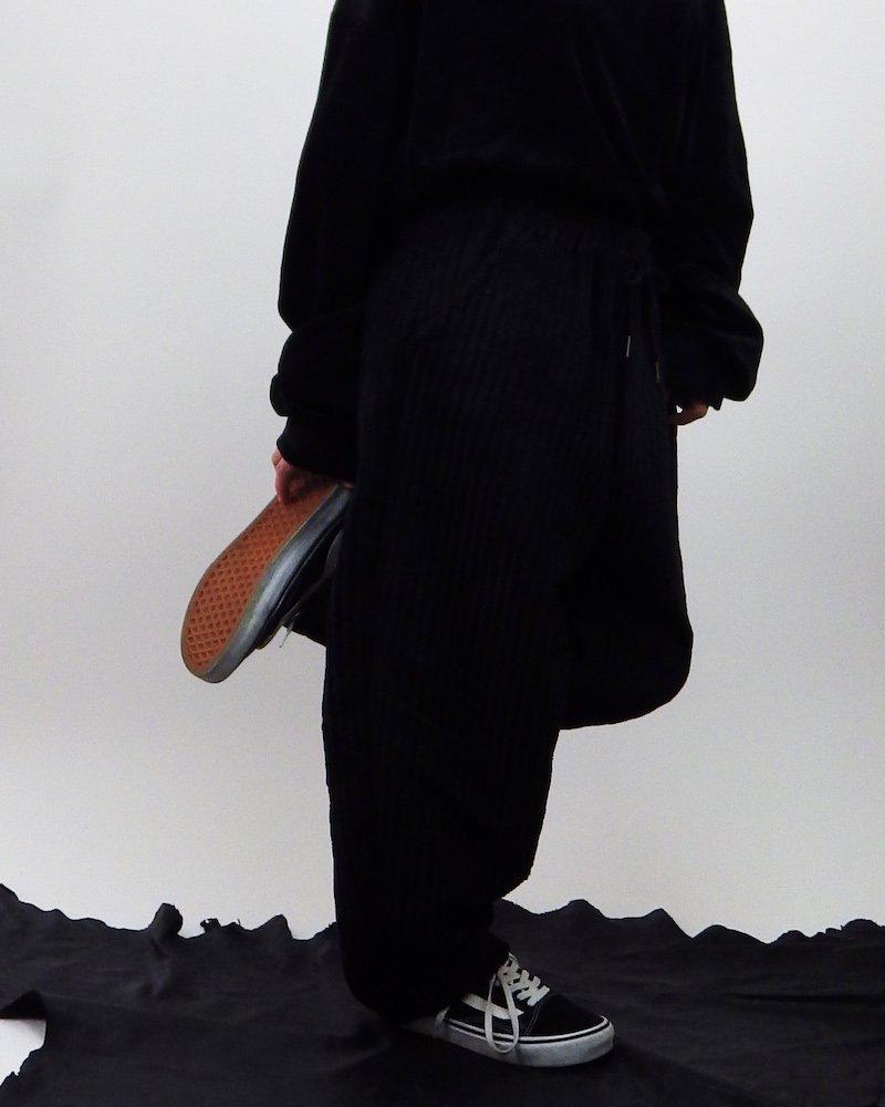オーバーサイズ&ストリート『Re:one Online Store』「NINE NUTS」BLACK loose  wide pants