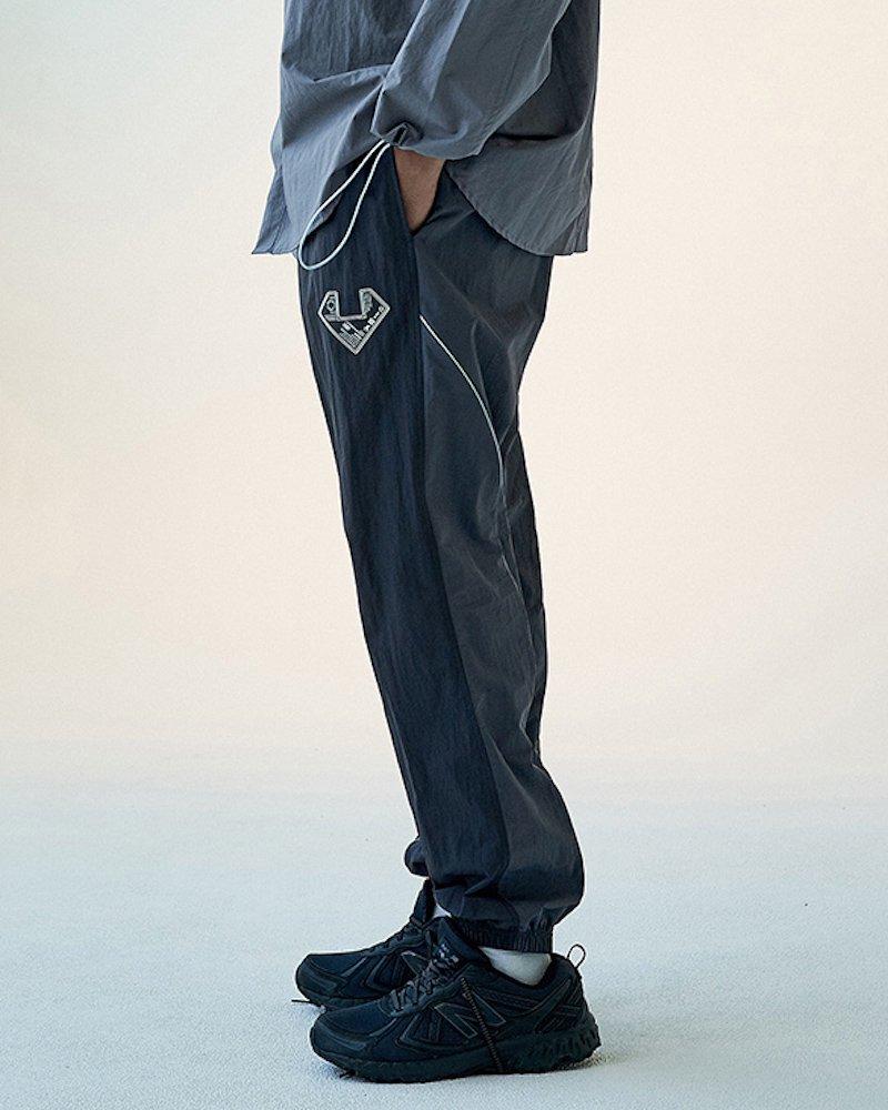 オーバーサイズ&ストリート『Re:one Online Store』「OVERR」COLOR BLOCKED CHARCOAL JOGGER PANTS