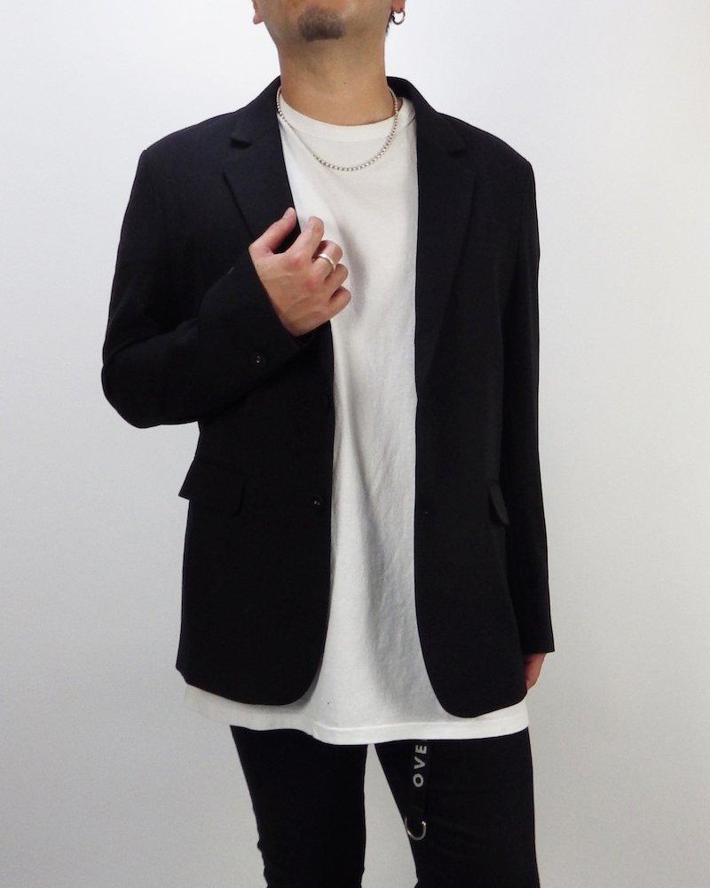 オーバーサイズ&ストリート『Re:one Online Store』Over tailored jacket -BLACK-