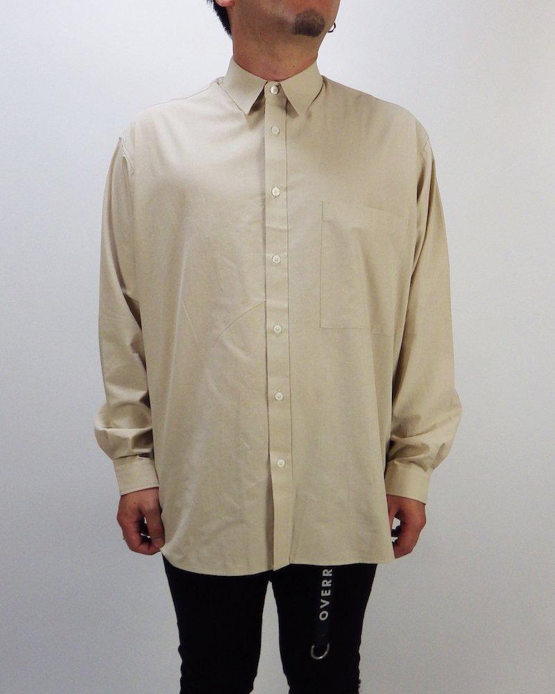 オーバーサイズ&ストリート『Re:one Online Store』Basic shirt -BEIGE-