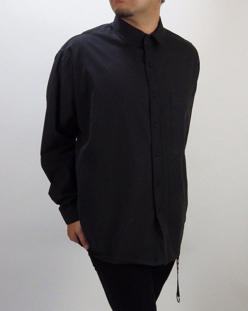 オーバーサイズ&ストリート『Re:one Online Store』Basic shirt -BLACK-