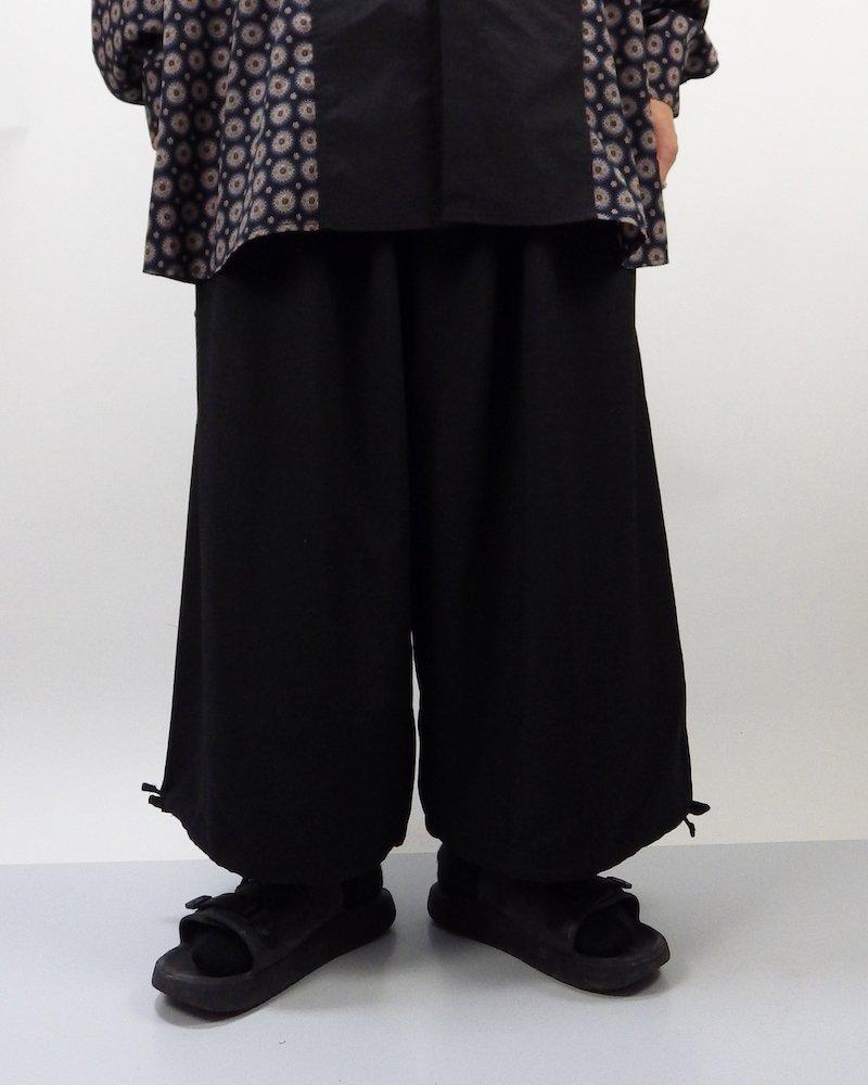 オーバーサイズ&ストリート『Re:one Online Store』Wide pants -BLACK-