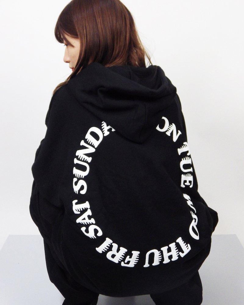 オーバーサイズ&ストリート『Re:one Online Store』ONE WEEK L/S HOODIE -BLACK-