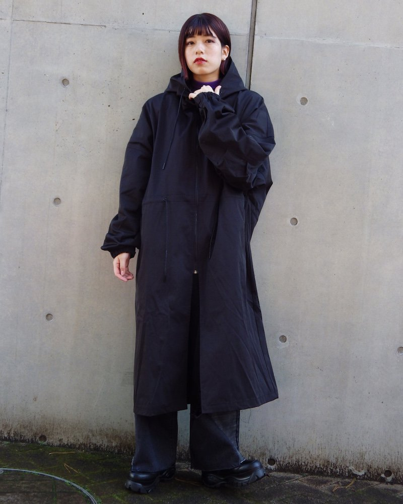 オーバーサイズ&ストリート『Re:one Online Store』「EDDEN」Long loose mod coat -BLACK-