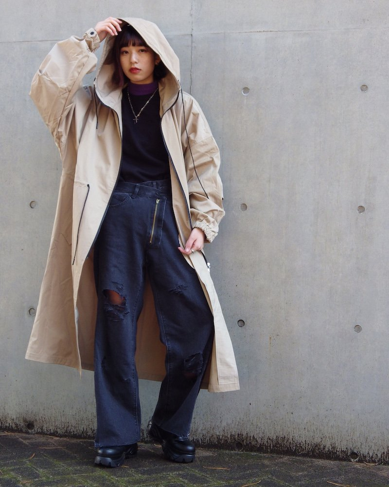 オーバーサイズ&ストリート『Re:one Online Store』「EDDEN」Long loose mod coat -BEIGE-
