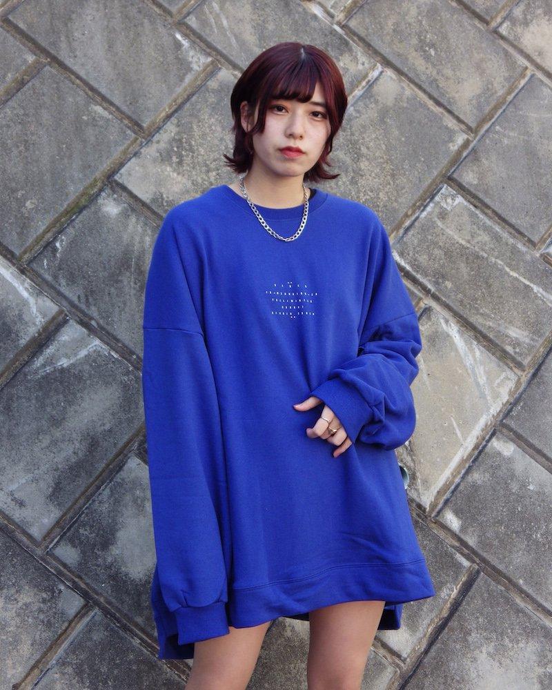 オーバーサイズ&ストリート『Re:one Online Store』「EDDEN」CENTER LOGO L/S BLUE SWEATSHIRT