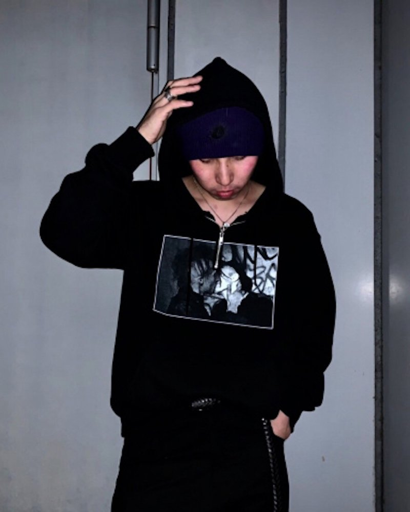 オーバーサイズ&ストリート『Re:one Online Store』「PARADOX」HALF ZIP PARKA -BLACK-