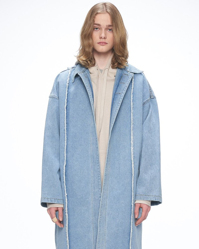 オーバーサイズ&ストリート『Re:one Online Store』「OVERR」DENIM LONG COAT