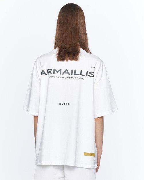 オーバーサイズ&ストリート『Re:one Online Store』「OVERR」BASIC LOGO WHITE T-SHIRTS