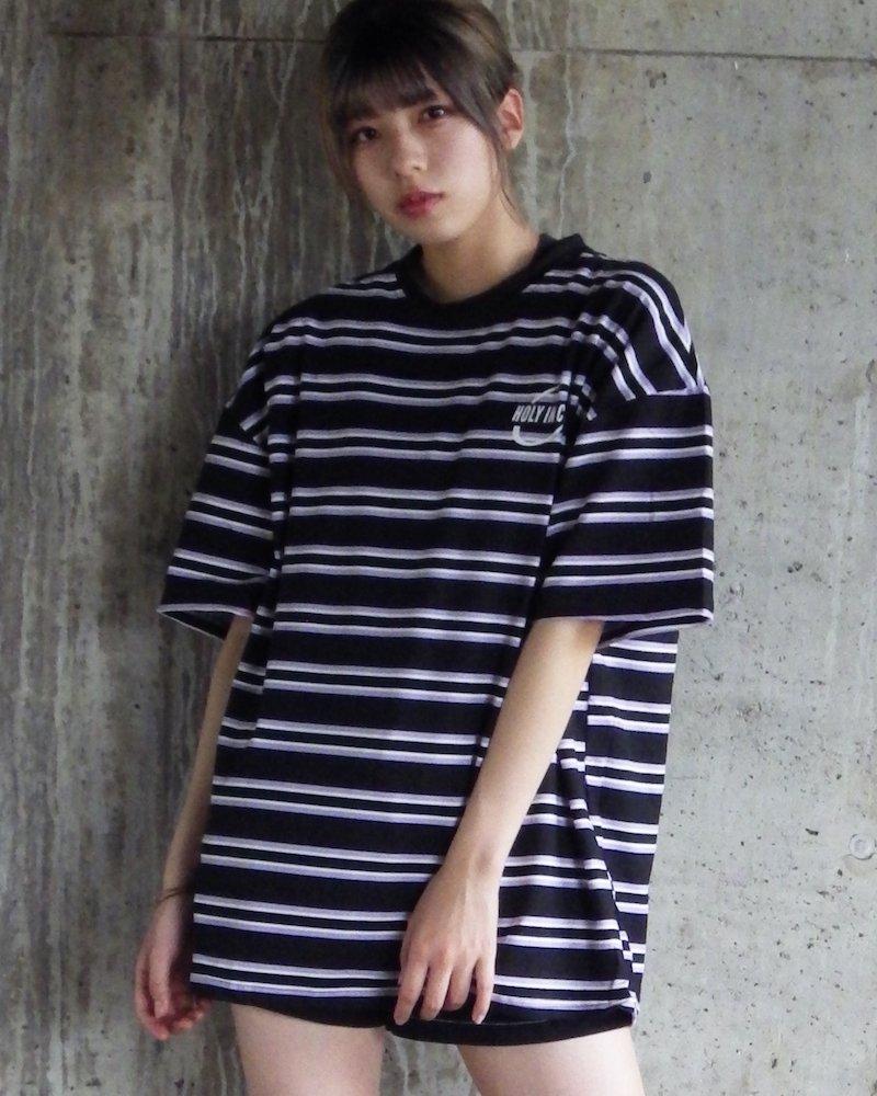 オーバーサイズ&ストリート『Re:one Online Store』「△VE U」HOLYINCON BLACK big T-shirt