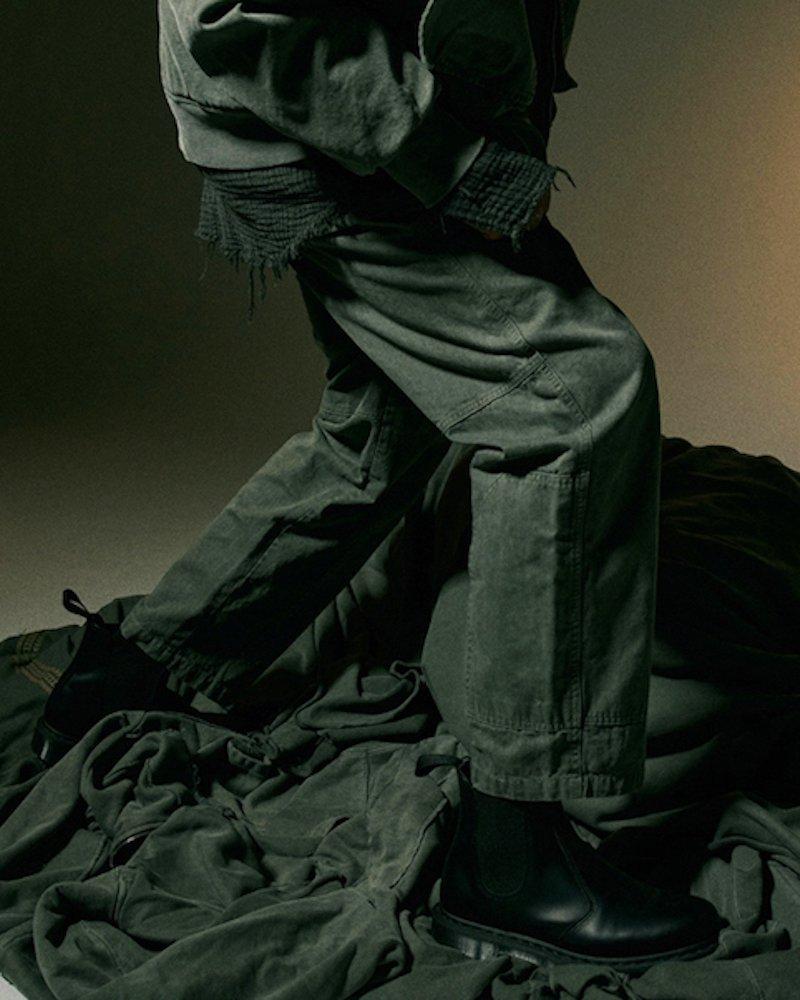 オーバーサイズ&ストリート『Re:one Online Store』【先行予約商品】「OVERR」PIGMENT KHAKI WORK PANTS