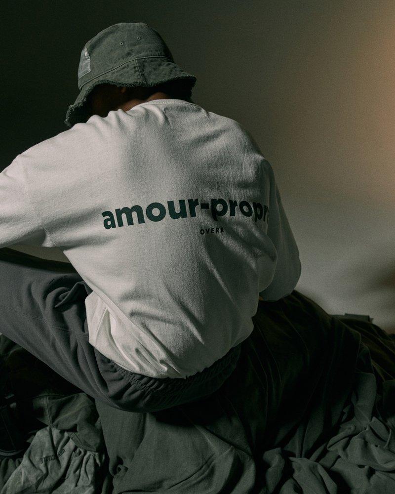 オーバーサイズ&ストリート『Re:one Online Store』【先行予約商品】「OVERR」AMOUR-PROPRE LOGO WHITE L/S T-SHIRTS