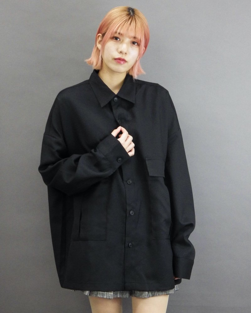 オーバーサイズ&ストリート『Re:one Online Store』「NINE NUTS」Black over  shirt
