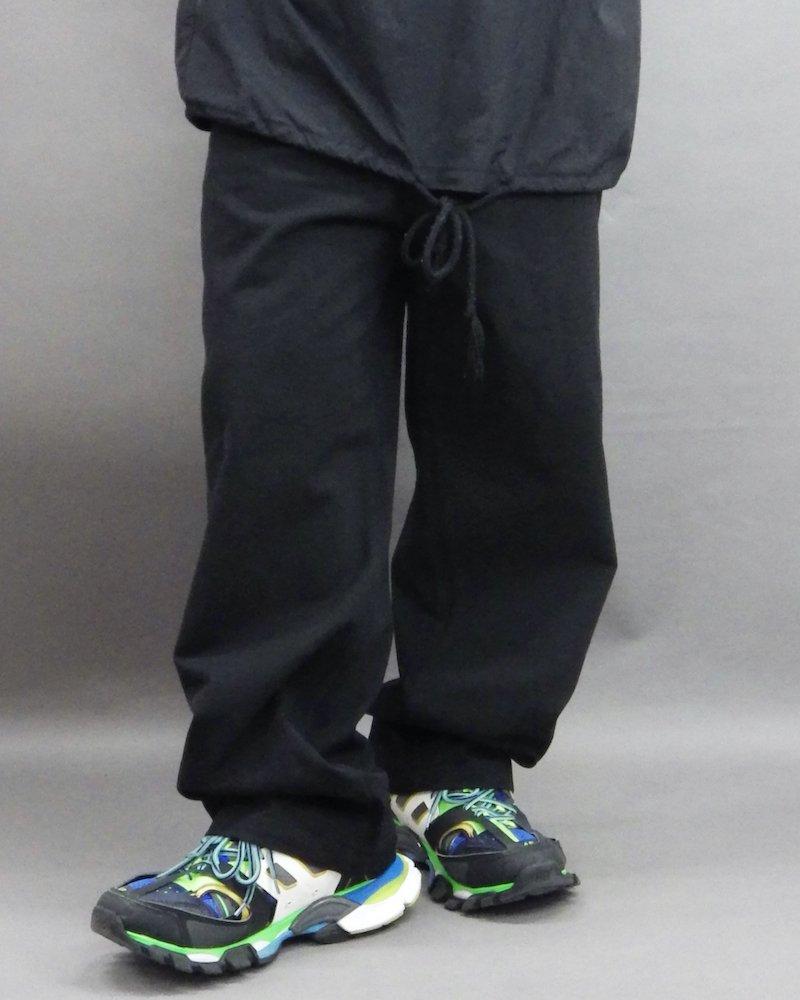 オーバーサイズ&ストリート『Re:one Online Store』「1:24」Wide painter black pants