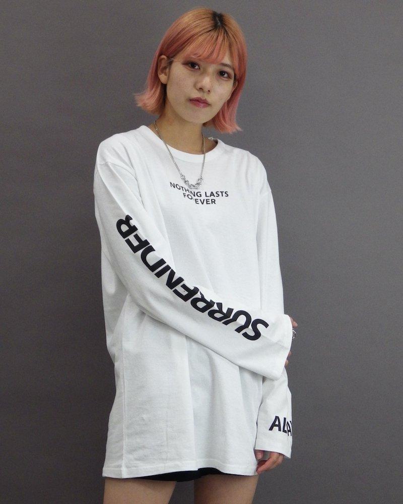 オーバーサイズ&ストリート『Re:one Online Store』「CAMP」Nothing lasts forever white cut and sew