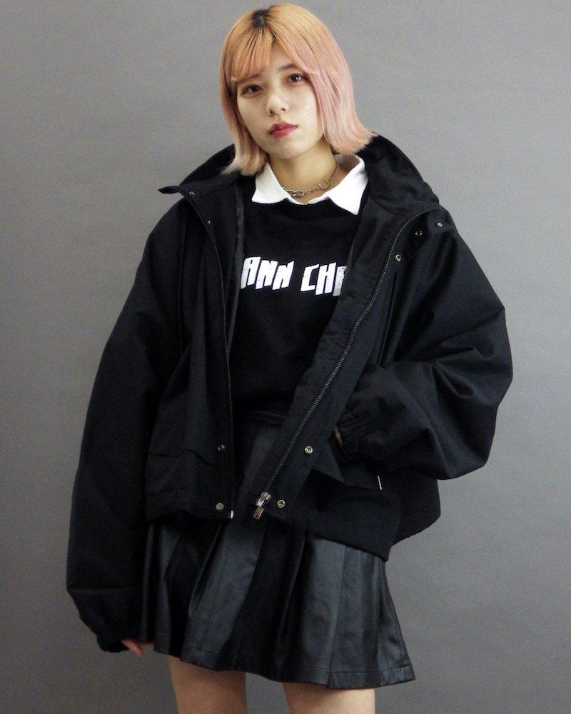 オーバーサイズ&ストリート『Re:one Online Store』「MAD MAD」Short length mountain black parka