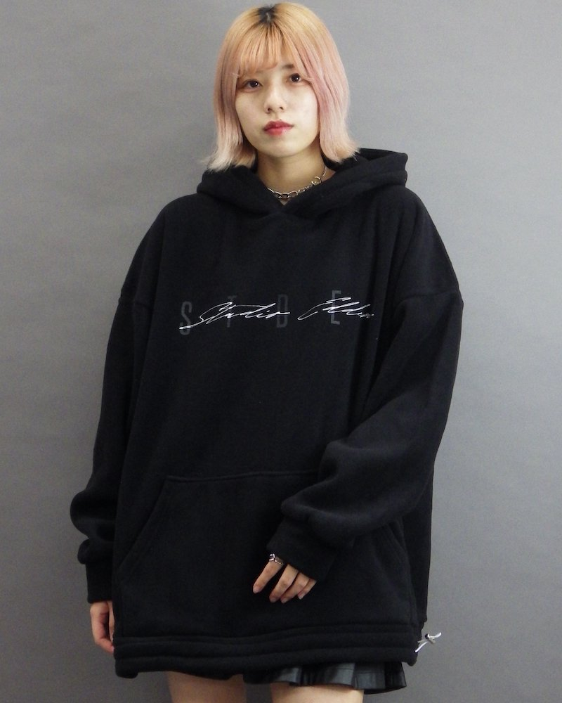 オーバーサイズ&ストリート『Re:one Online Store』「EDDEN」Boa stded black hoodie