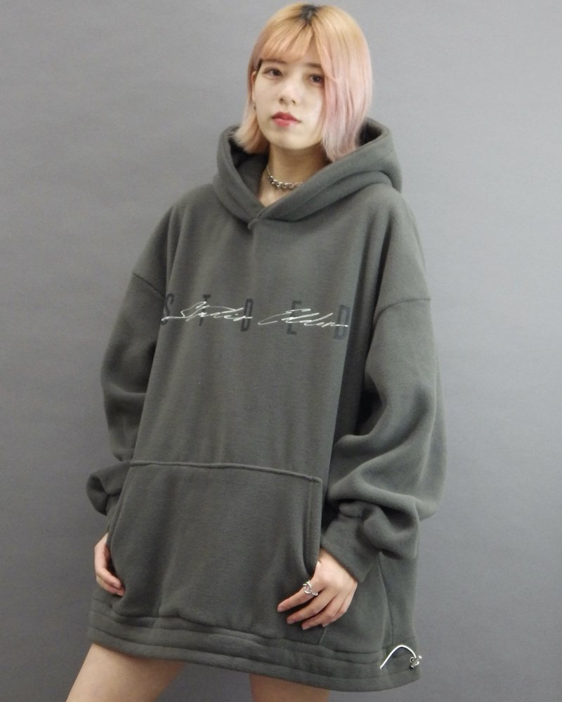 オーバーサイズ&ストリート『Re:one Online Store』「EDDEN」Boa stded khaki hoodie