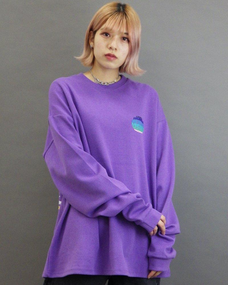 オーバーサイズ&ストリート『Re:one Online Store』「ATTENTION」This world needs  purple cut&sew