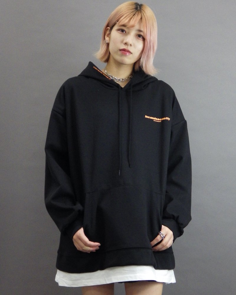 オーバーサイズ&ストリート『Re:one Online Store』「ATTENTION」The end black hoodie