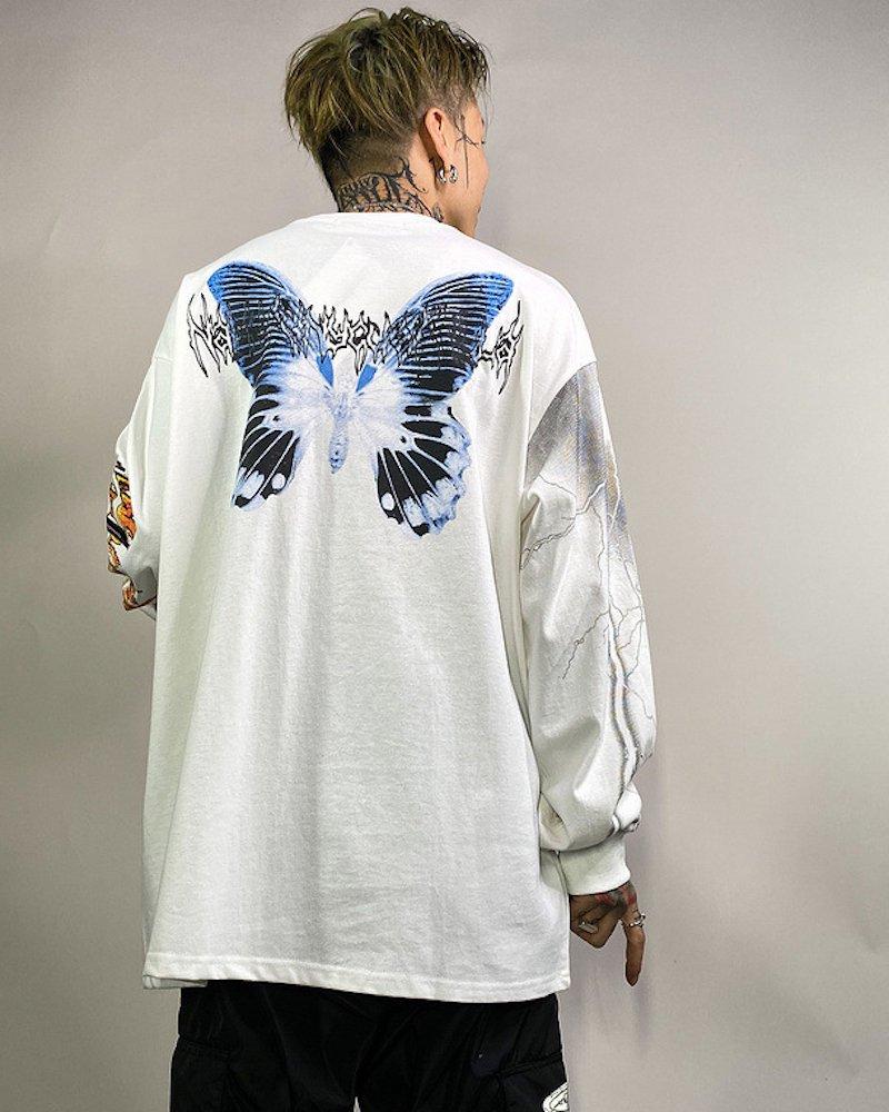 オーバーサイズ&ストリート『Re:one Online Store』<img class='new_mark_img1' src='https://img.shop-pro.jp/img/new/icons20.gif' style='border:none;display:inline;margin:0px;padding:0px;width:auto;' />【Last one special price】「Re:select」Butterfly big white cut and sew